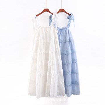 Women's New Wrinkled Skirt Fairy Dress