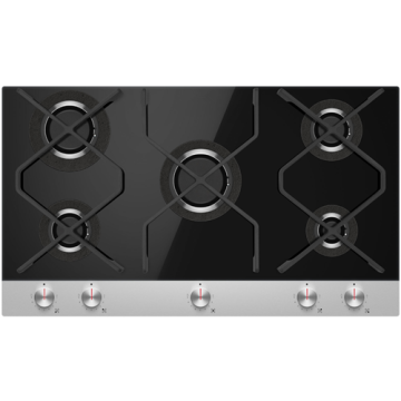 Black Gas Stove 900mm 5 Burners