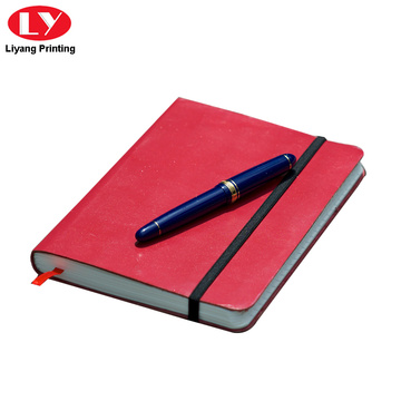 Pocket Red PU Cover Leather Notebook