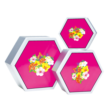 Foldable  Hexagon Hat Packaging Box