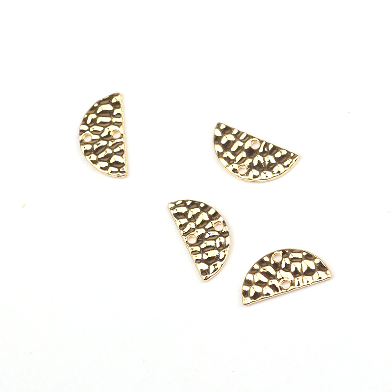 15*7MM 20pcs/lot Retro Half Round Gold Zinc Alloy Connectors Charms For DIY Necklace Earrings Connectors Accessories