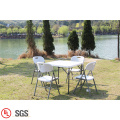 White Plastic Outdoor Folding Square Table
