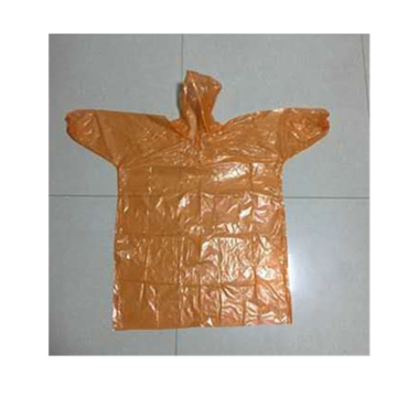 One-time use PE kids PE raincoat