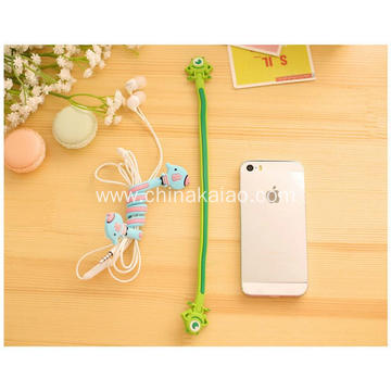 Funny Silicone Rubber Cable Winder For Earphone
