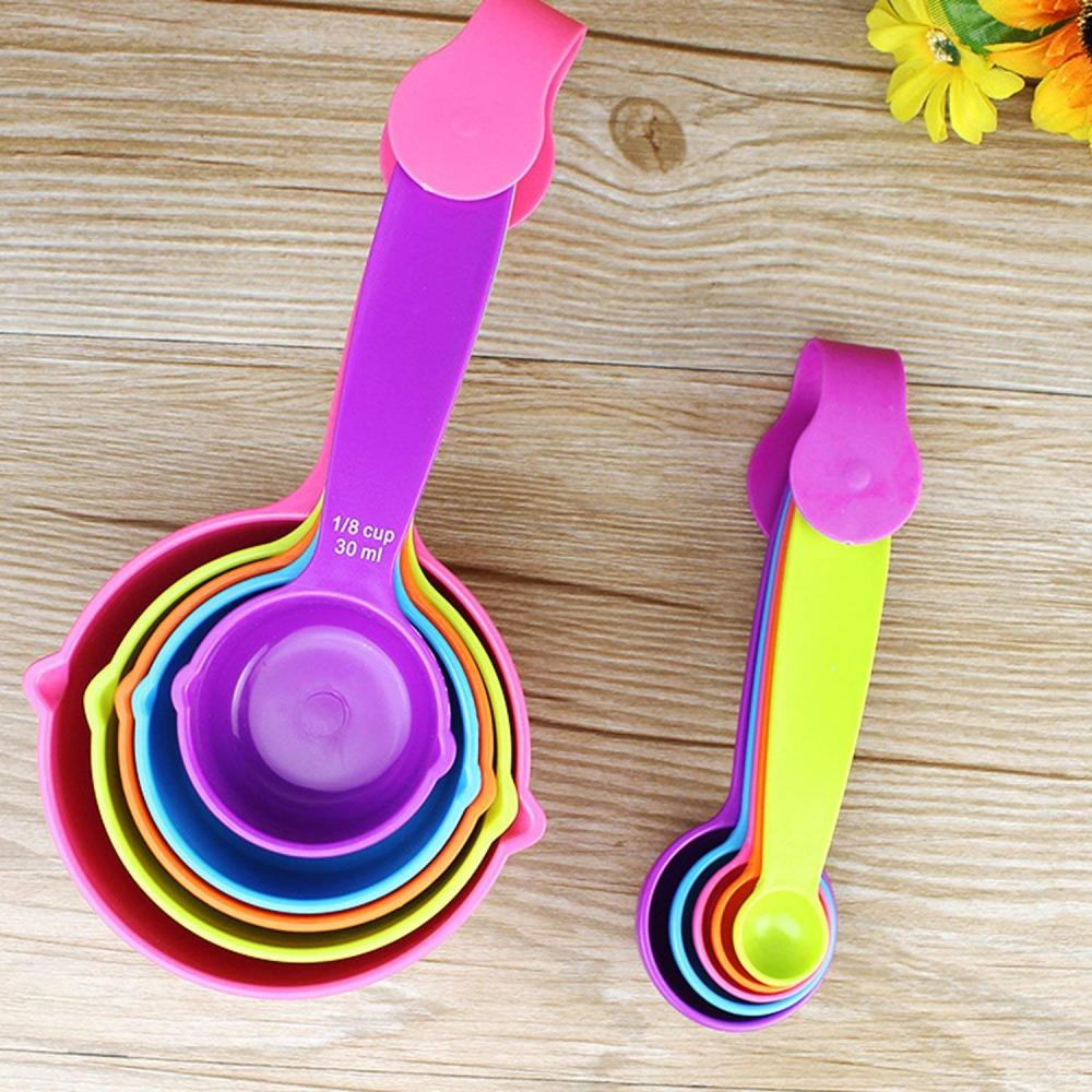 10PCS Plastic Measuring Cups and Spoons Set