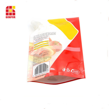 400g Stand Up Pouch With Nozzle For Tomato Sauce Packaging