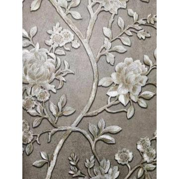 PVC Factory price italian wall paper flower wallpaper