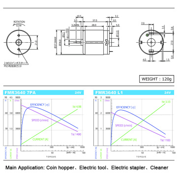 micro dc brush  motor for Electric stapler