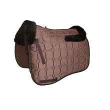 New Lambskin saddle pad with velvet in brown