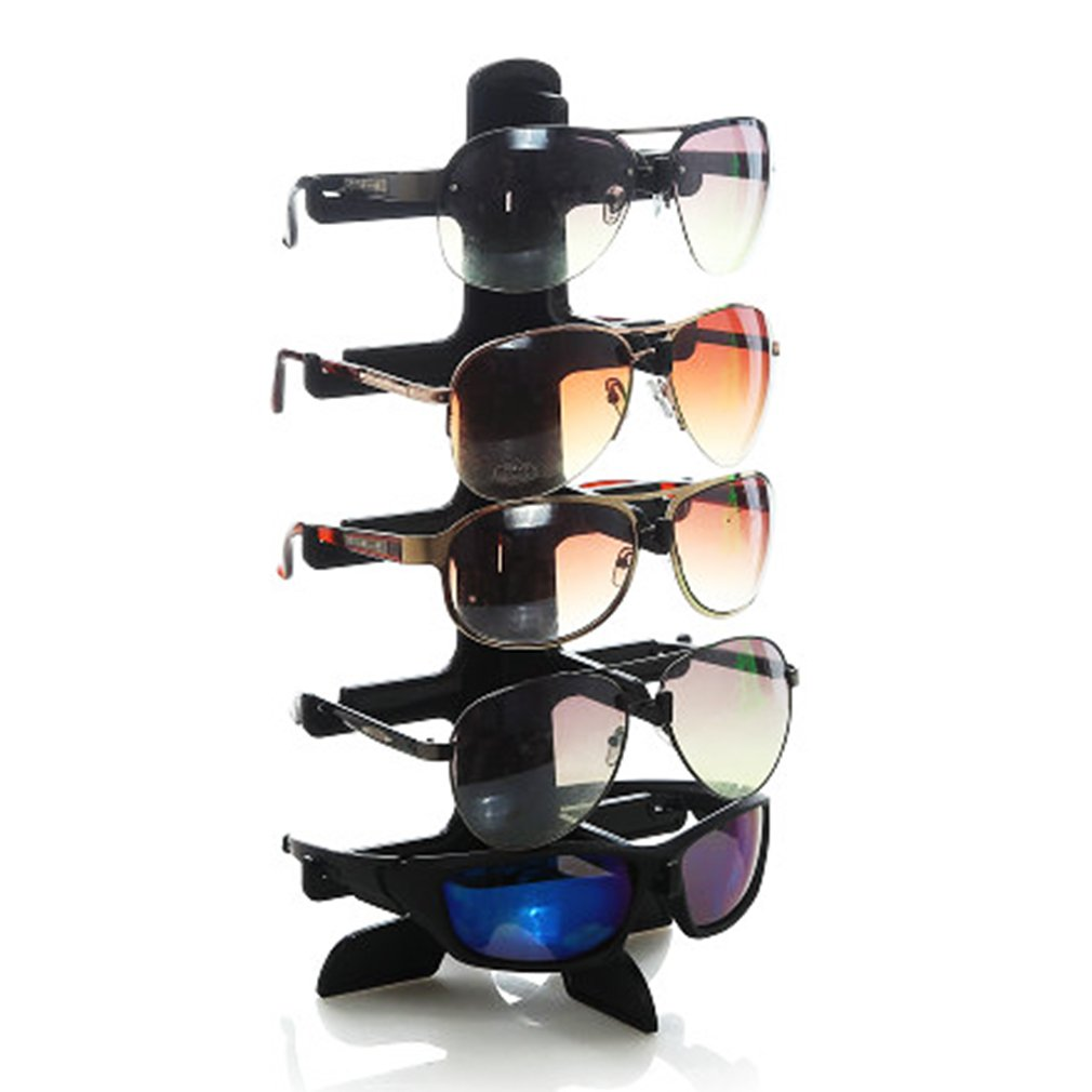New 5 Layers Plastic Frame Sunglasses Display Stand Glasses Eyeglasses Colorful Eyewear Counter Show Stands Holder Rack