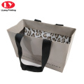 Grey Clothing Carry Paper Bags Luxury Black Logo