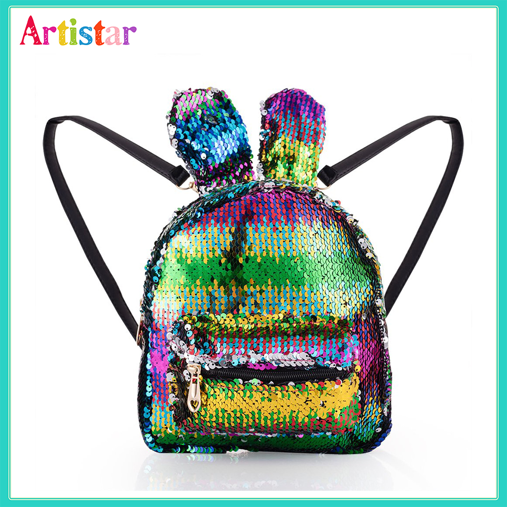 Rabbit Sequin Backpack 12 3