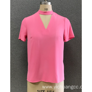 women's V neck  blouse