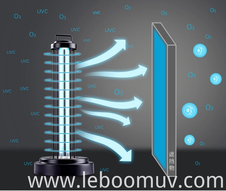 UV table lamp for air sterilizer