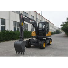 Factory direct 8 tons wheel excavator for sale