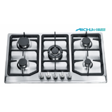 5 Burners Steel Built In Gas Cooktop