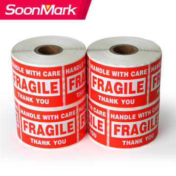 Custom adhesive shipping sticker fragile label roll