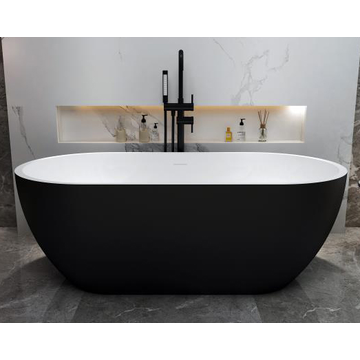 Small Freestanding Acrylic Bathtub Black