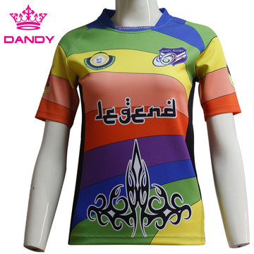 New Breathable Fabric Full Sublimation Rugby Shirt