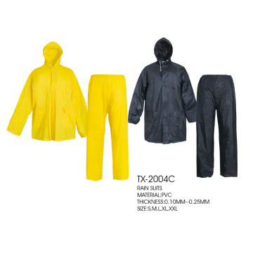 pvc polyester raincoat set