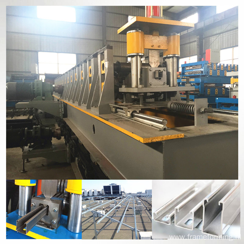 solar panel U bracket roll forming machine