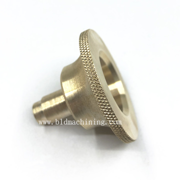 Turning Machining Brass Inserts with Diamond Knurling
