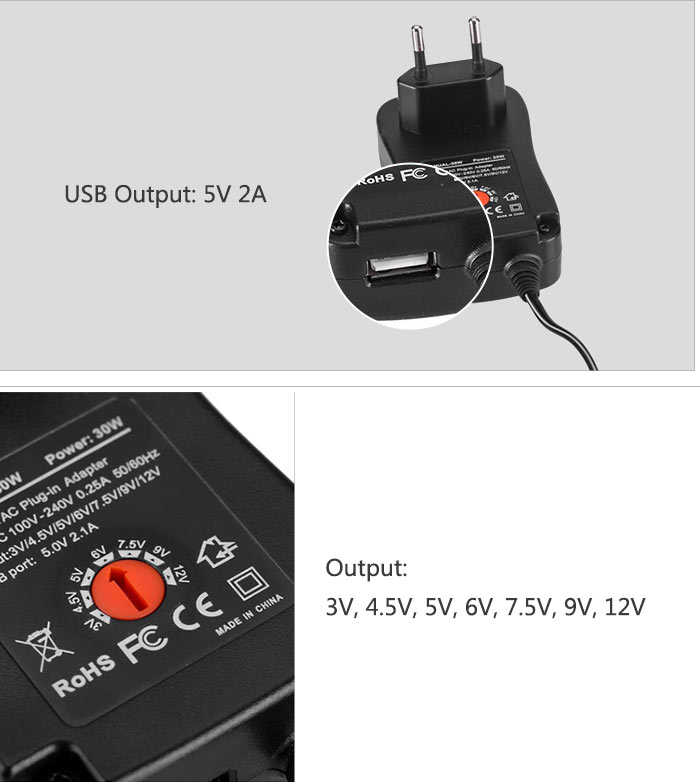 Multi-output adapter 30w