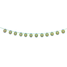 Blue Easter egg shape bunting banner
