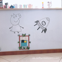 Tablero de escritura infantil borrable del montaje en la pared