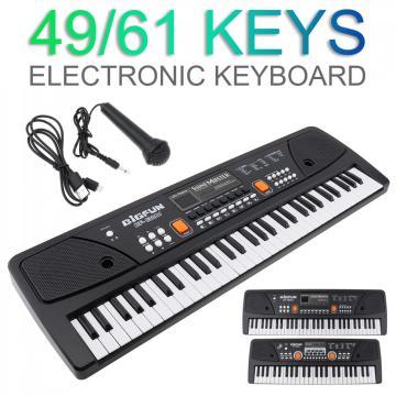 Electronic Organ 37/49/61 Keys Electronic Keyboard Piano Digital Music Key Board Microphone Children Gift Musical Enlightenment