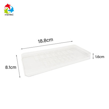 Custom cosmetic clear vacuum plastic blister tray