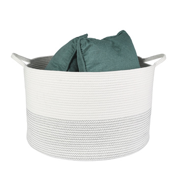 Eco Cotton Organizer Decorative Rope Storage Basket