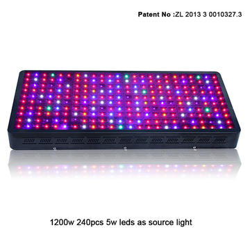 Full spectrum veg/bloom switch led grow light 1200W