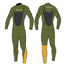 Seaskin 4/3mm Zipperless Steamer Wetsuit For Men
