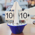Living Room Sailboat Desk Flip Clock For Study