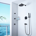 Brass Shower Faucet Bathroom Black Shower Mixer