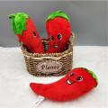 New 1PCS 20CM Red Simulation Pepper Plush Toy PP Cotton Filled Simulation Vegetable Pendant Fun Hot Sale Cheap HANDANWEIRAN