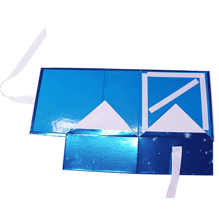 Folding Gift Paper Box With Ribbon