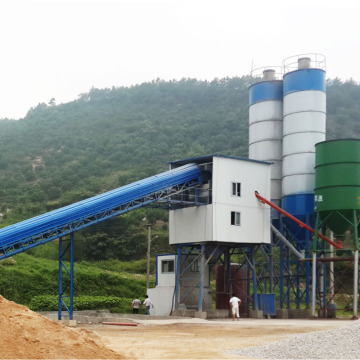 Belt Conveyor 90m3 H Cement Concrete Batching Plant