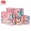 Custom flowers printing shopping paper bags
