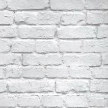 Modern Vintage 3D Stereo Effect White Brick Wallpaper Roll Vinyl PVC Rustic Realistic Faux Brick Wall Paper Waterproof