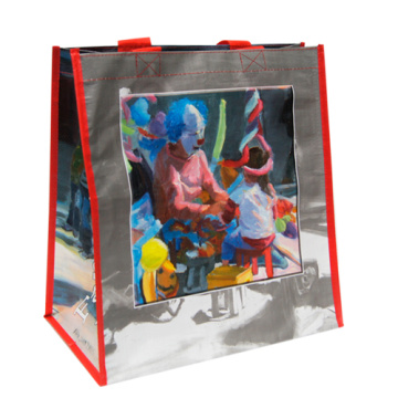 Bopp laminated pp woven shopping bags for sale