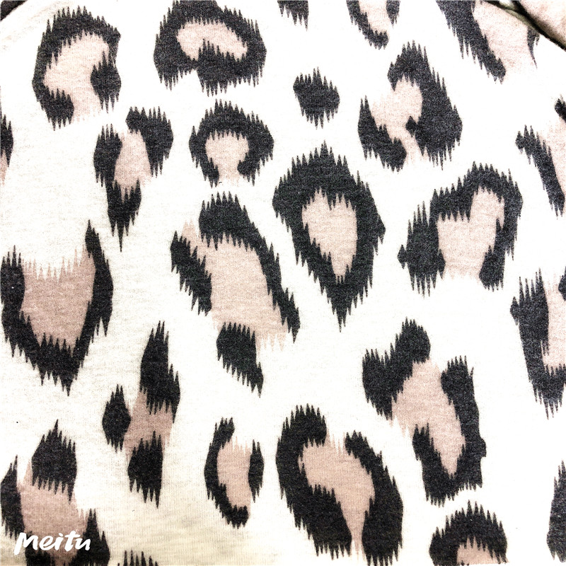 Leopard Print Knitting with Brushed