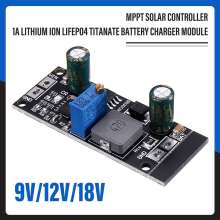 MPPT Solar Charge Controller Lithium ion LiFePO4 Titanate Solar Storage Battery Charger Controller DIY Module 9V 12V 18V New