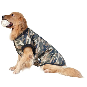 Camo Dog Jacket Coat for Big Dogs