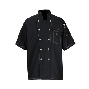 soft chef garment coat double row button cook uniform chef uniform
