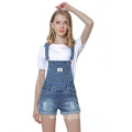 Teen Girl Distressed Denim Suspenders Jumpsuit Jeans Shorts
