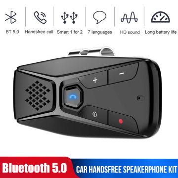 Bluetooth Car Handsfree MP3 Player Auto Stereo Bluetooth Hands free Car Kit Wireless SpeakerPhone Sun Visor BT Audio Adapter