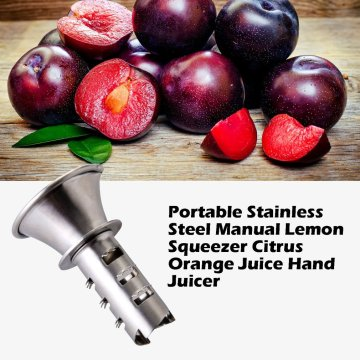 Portable Size Stainless Steel Manual Lemon Squeezer Citrus Orange Juice Hand Juicer Screw Press Fresh Squeezed Fruit Tools