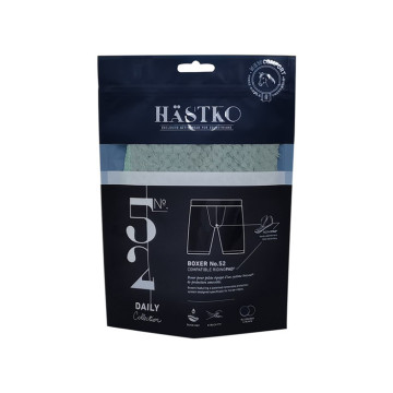 biodegradable stand up sealed underwear zip packaging pouches bag